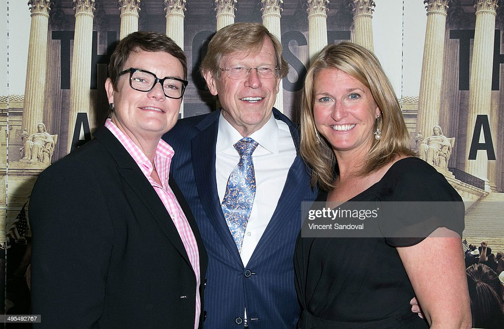 Lawyer Ted Olson (C) and documentary subjects <a gi-track='captionPersonalityLinkClicked' href=/galleries/search?phrase=Kris+Perry&family=editorial&specificpeople=2489335 ng-click='$event.stopPropagation()'>Kris Perry</a> (L) and <a gi-track='captionPersonalityLinkClicked' href=/galleries/search?phrase=Sandy+Stier&family=editorial&specificpeople=7128704 ng-click='$event.stopPropagation()'>Sandy Stier</a> attend HBO Documentary Films 'The Case Against 8' Los Angeles premiere at Directors Guild Of America on June 3, 2014 in Los Angeles, California.