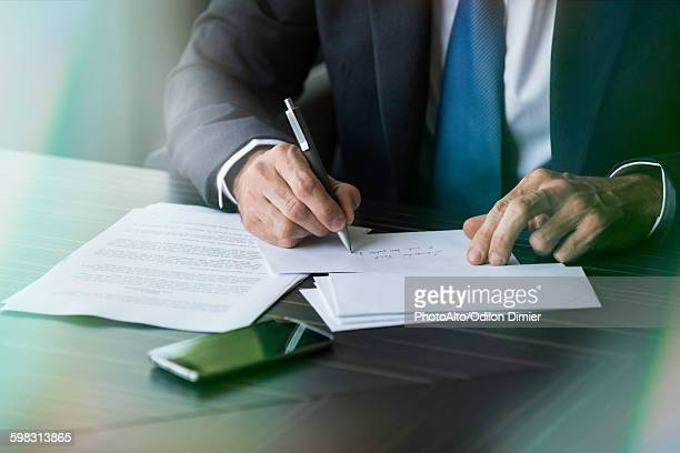 Lawyer writing letter