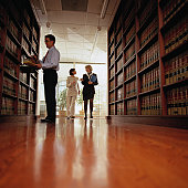 Lawyers in a Law Library