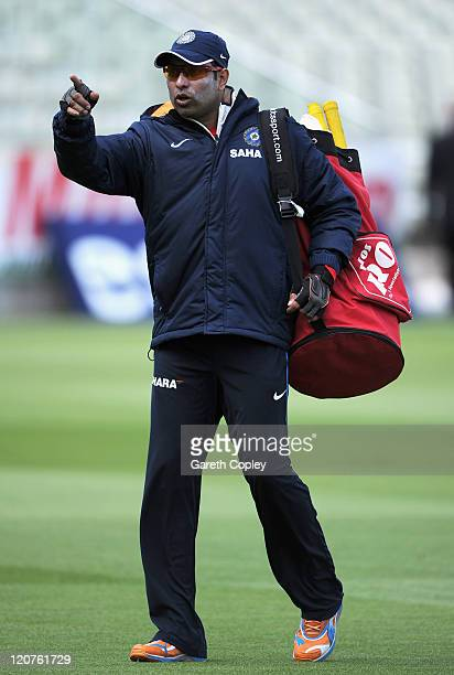 Laxham of India during a nets session at Edgbaston on August 9 2011 in Birmingham England