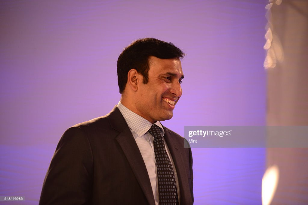 VVS Laxman Former Indian Cricket Team player speaking at HT leadership Summit on November 21, 2014 in New Delhi, India.