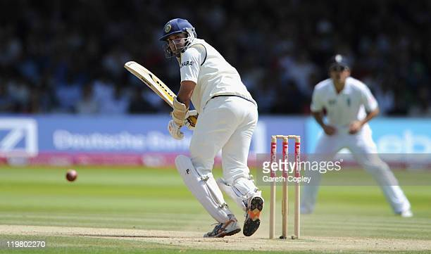 Laxman of India bats during day five of the 1st npower test match between England and India at Lord's Cricket Ground on July 25 2011 in London England