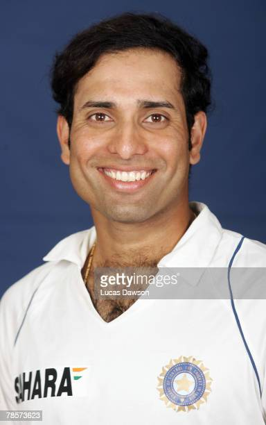 Laxman of India poses during the Indian cricket team portrait session at the Melbourne Cricket Ground on December 19 2007 in Melbourne Australia