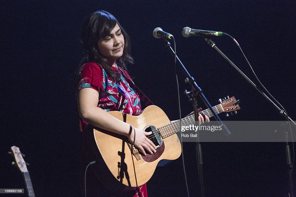 Lay Low, also known as Lov'sa El'sabet Sigrœnard—ttir performs at Hackney Empire on January 24, 2013 in London, England.