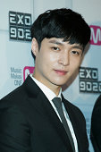 Lay of boy band EXO attends the press conference for Mnet EXO 902014 at CJ EM Center on August 11 2014 in Seoul South Korea The program will open on...