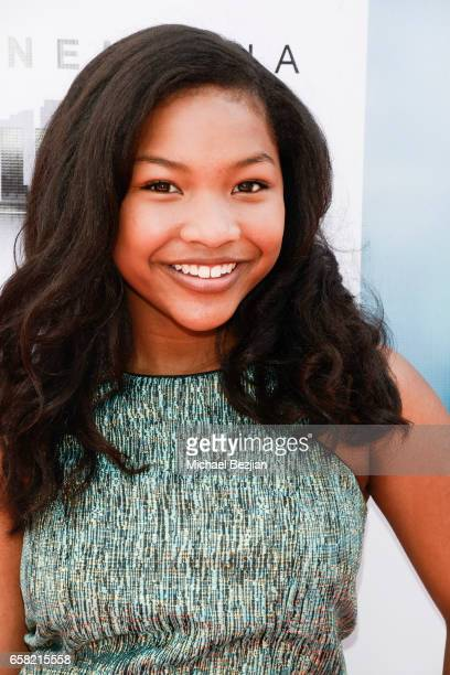 Laya Deleon Hayes arrives at Teen Recording Artist Mahkenna's Sweet 16/Expect2Win Extravaganza at ANC Productions on March 26 2017 in Burbank...