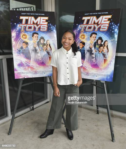 Laya Deleon Hayes attends premiere of 'Time Toys' at Laemmle NoHo 7 on March 4 2017 in North Hollywood California