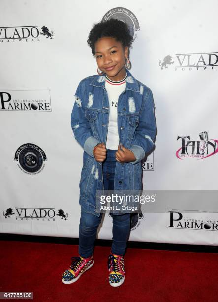 Laya Deleon Hayes attends Talin Silva's EP Release Party And Concert held at Busby's East on March 3 2017 in Los Angeles California