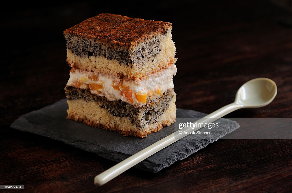 Layer cake with poppy seeds : Stock Photo