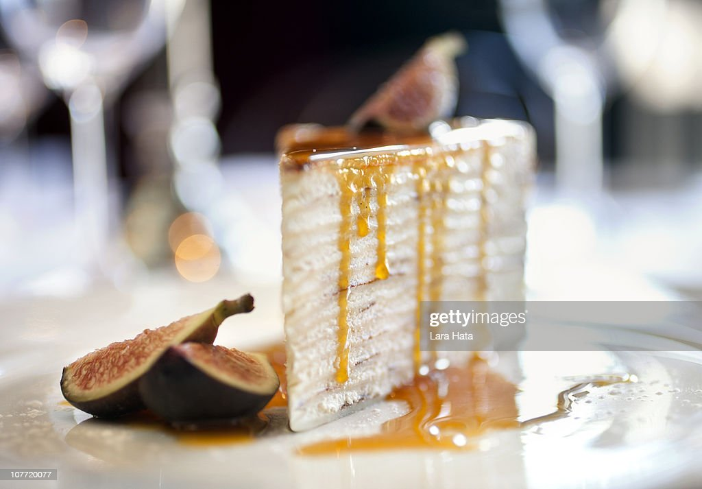 24 layer crepe cake : Stock Photo