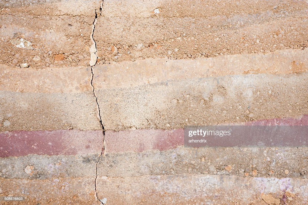Layer of soil Cross Section Close-up : Stock Photo