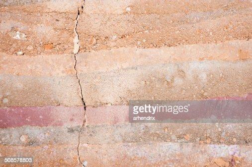 Schicht Boden Querschnitt Close-up : Stock-Foto