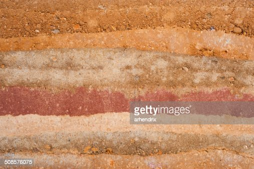Layer of soil : Stock Photo