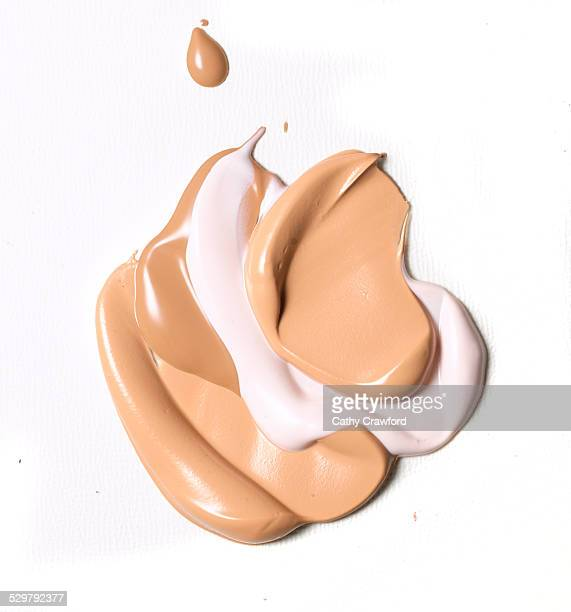 layered blob of face creams
