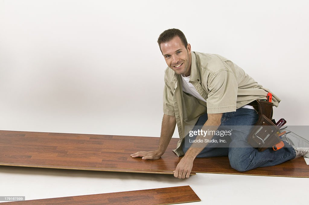 Laying a laminate hardwood floor