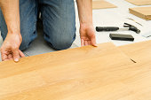 Laying wooden flooring