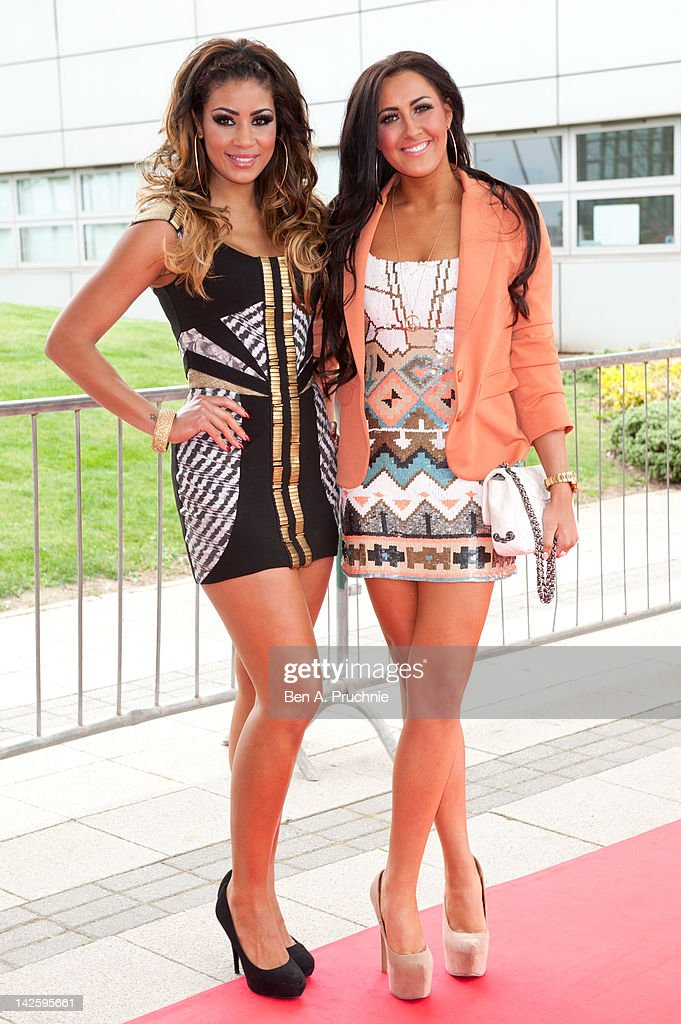 Layla Flaherty and Elissa Corrigan attends Essex Fashion Week - Autumn/Winter 2012 at Ceme on April 8, 2012 in Rainham, Greater London.