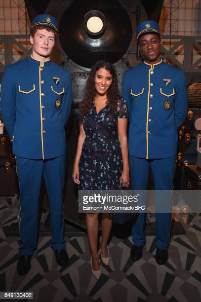 Layla Romic attends the Aspinal of London presentation during London Fashion Week September 2017 on September 18 2017 in London England