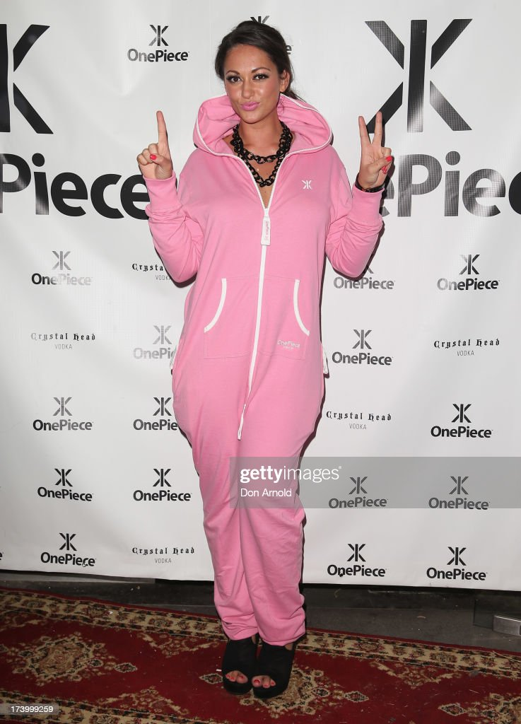 Layla Subritzky poses during the OnePiece onesie Australian launch at the Bucket List at the Bondi Beach on July 19, 2013 in Sydney, Australia.