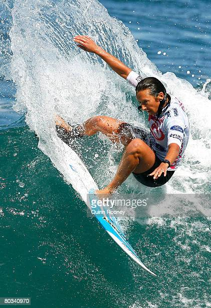 Layne Beachley of Australia competes during round three of the Rip Curl Pro as part of the ASP World Tour held at Bells Beach March 22 2008 in...