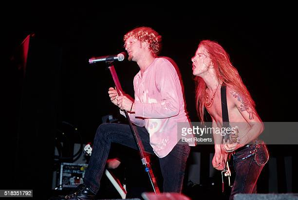Layne Staley and Jerry Cantrell of Alice In Chains performing at Roseland in New York City on November 24 1992