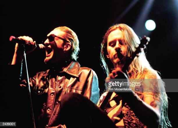 Layne Staley and Jerry Cantrell of Alice in Chains performing at the San Jose State Event Center in San Jose Calif on April 11th 1993 Photo by Tim...