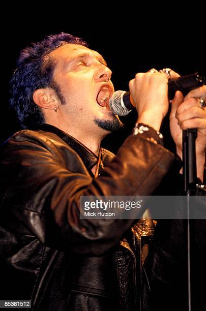 Layne Staley from rock group Alice In Chains performs live on stage circa 1993