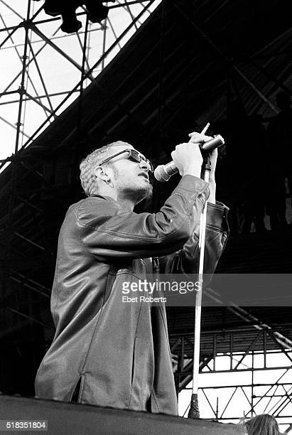 Layne Staley of Alice In Chains performing at Lollapalooza at Thunderbird Stadium at the University of British Columbia in Vancouver Canada on June...