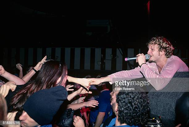 Layne Staley of Alice In Chains reaching out to the audience while performing at Roseland in New York City on November 24 1992