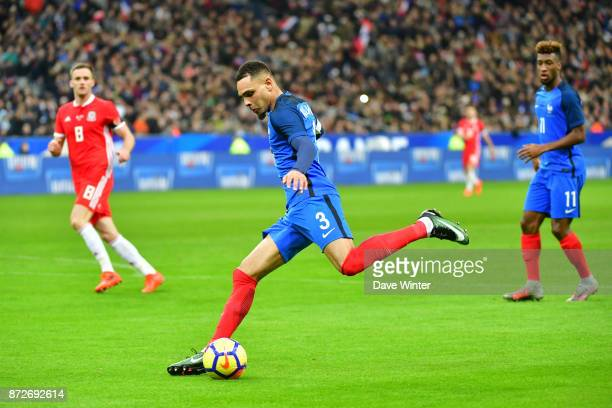 Layvin Kurzawa of France during the international friendly match between France and Wales at Stade de France on November 10 2017 in Paris France
