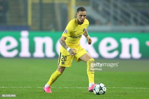 Layvin Kurzawa of Paris SaintGermain during the UEFA Champions League Group B football match between RSC Anderlecht and Paris SaintGermain at the...
