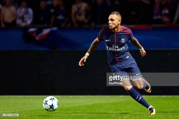 Layvin Kurzawa of PSG during the UEFA Champions League football match between Paris SaintGermain and Bayern Munich on September 27 2017 at the Parc...