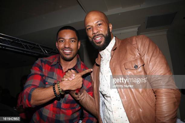 Laz Alonso and Common host the Corzo Daytime Experience at Hess Private Club on February 17 in Houston Texas