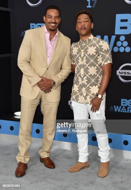 Laz Alonso and Jacob Latimore at the 2017 BET Awards at Microsoft Square on June 25 2017 in Los Angeles California