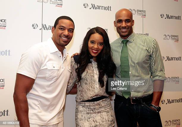 Laz Alonso Angela Simmons and Boris Kodjoe attend Totally Tripping Panel Discussion during ESSENCE Festival presented by Marriott International Laz...