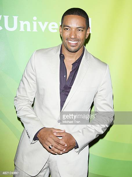 Laz Alonso arrives at NBCUniversal's 2014 Summer TCA Tour Day 1 held at The Beverly Hilton Hotel on July 13 2014 in Beverly Hills California