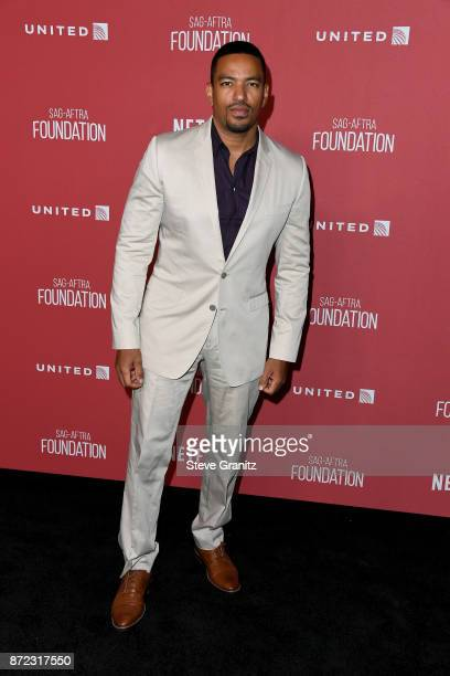 Laz Alonso attends the SAGAFTRA Foundation Patron of the Artists Awards 2017 at the Wallis Annenberg Center for the Performing Arts on November 9...