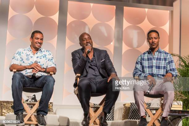 Laz Alonso Malik Yoba and Brian White take part in the MegaFest Leading Men In Hollywood Panel at the Omni Hotel on June 29 2017 in Dallas Texas