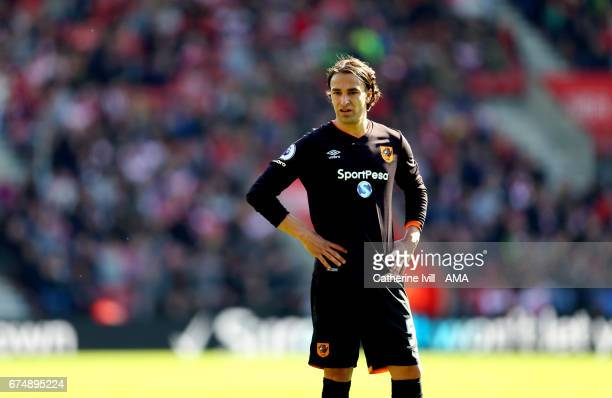 Lazar Markovic of Hull City during the Premier League match between Southampton and Hull City at St Mary's Stadium on April 29 2017 in Southampton...