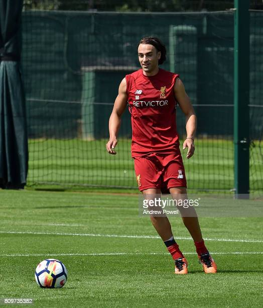 Lazar Markovic of Liverpool during a training session at Melwood Training Ground on July 6 2017 in Liverpool England