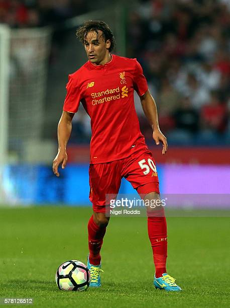 Lazar Markovic of Liverpool during the PreSeason Friendly match between Huddersfield Town and Liverpool at the Galpharm Stadium on July 20 2016 in...