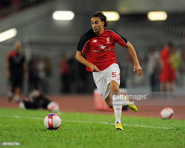 Lazar Markovic of Liverpool in action during a training session on July 23 2015 in Kuala Lumpur Malaysia