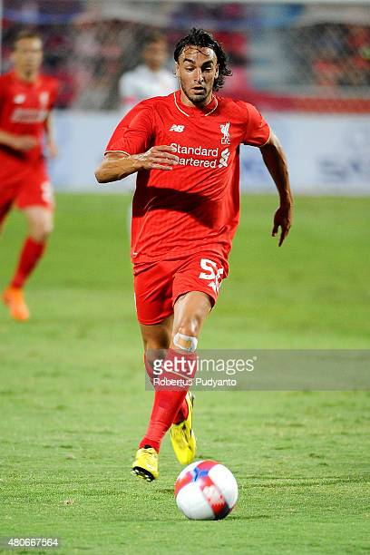 Lazar Markovic of Liverpool in action during the international friendly match between Thai Premier League All Stars and Liverpool FC at Rajamangala...