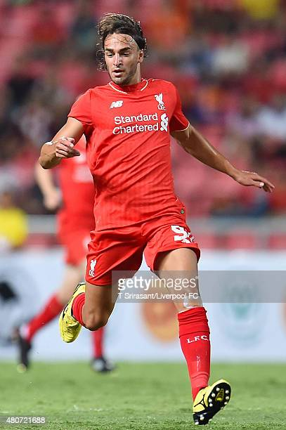 Lazar Markovic of Liverpool runs during the international friendly match between Thai Premier League All Stars and Liverpool FC at Rajamangala...