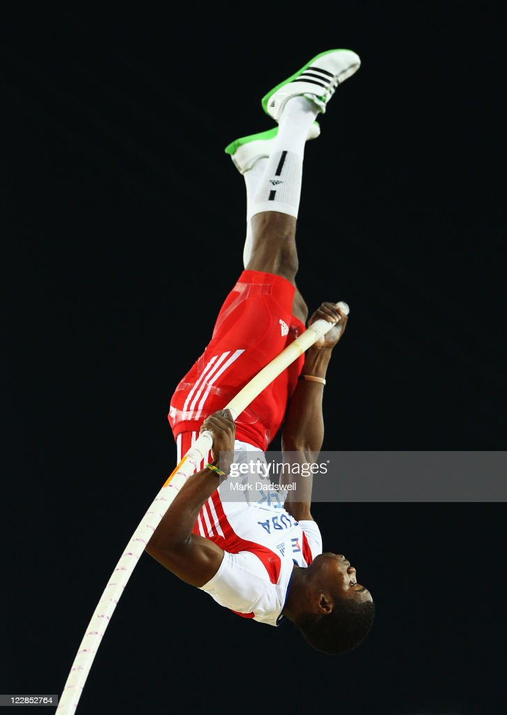 Lazaro Borges of Cuba competes during the men's pole vault final during day three of the 13th IAAF World Athletics Championships at the Daegu Stadium on August 29, 2011 in Daegu, South Korea.