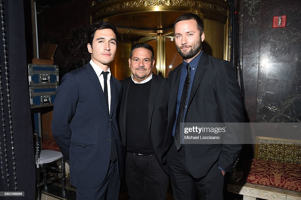 Lazaro Hernandez, Narciso Rodriguez and Jack McCollough attend the Accessories Council 20th Anniversary celebration of the ACE awards at Cipriani 42nd Street on August 2, 2016 in New York City.