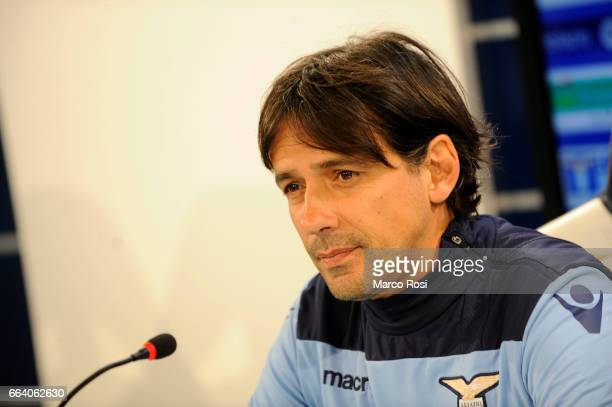 Lazio head coach during the Press Conference at the Formello Center in Rome on April 3 2017 in Rome Italy