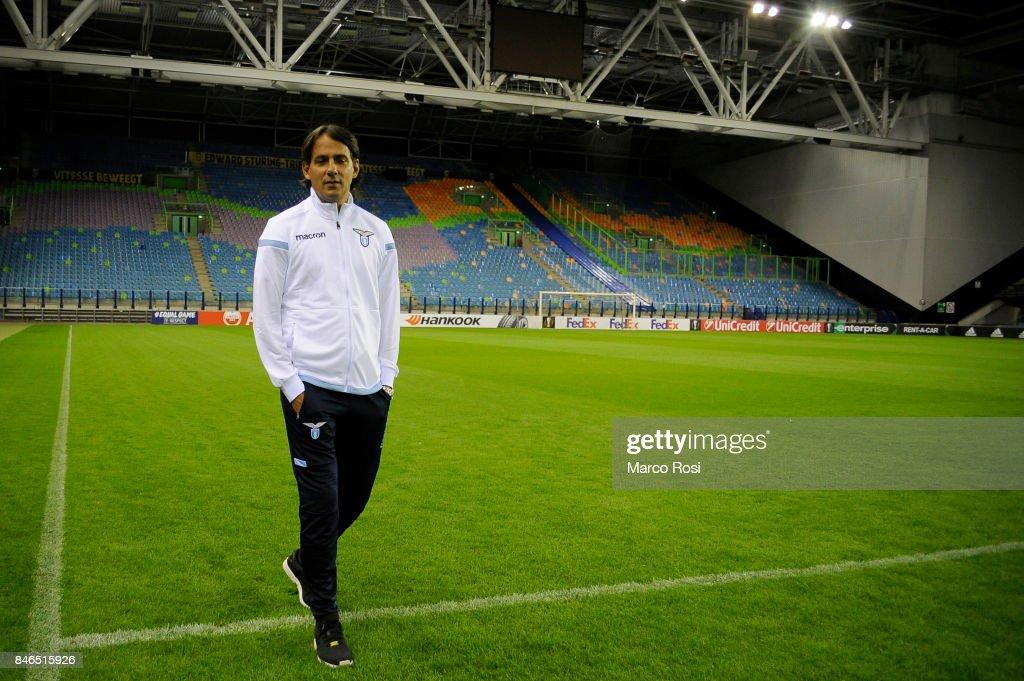 SS Lazio head coach Simone Inzagh during the SS Lazio Pitch Walk Around on September 13, 2017 in Arnhem, Netherlands.