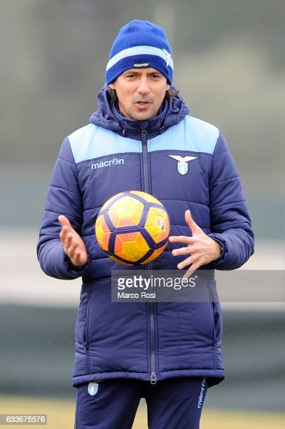 Lazio head coach Simone Inzaghi during a SS Lazio training session on February 3 2017 in Rome ItalyÊ