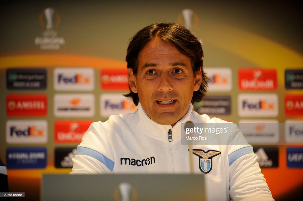 SS Lazio head coach Simone Inzaghi during the SS Lazio Press Conference on September 13, 2017 in Arnhem, Netherlands.